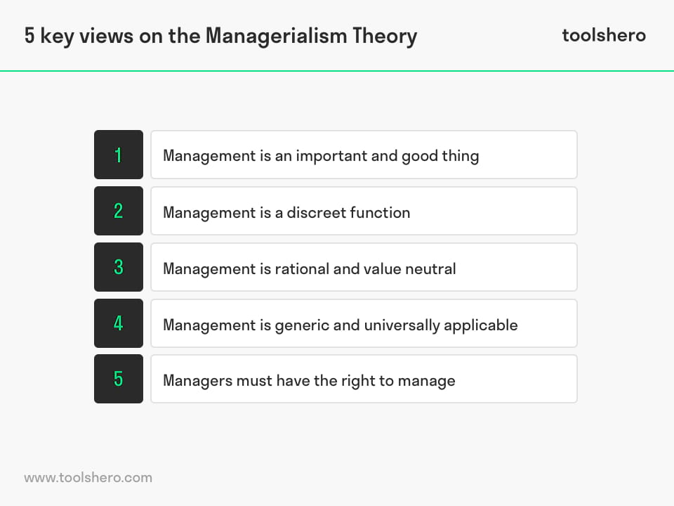 5 Key Views on the Managerialism Theory - toolshero