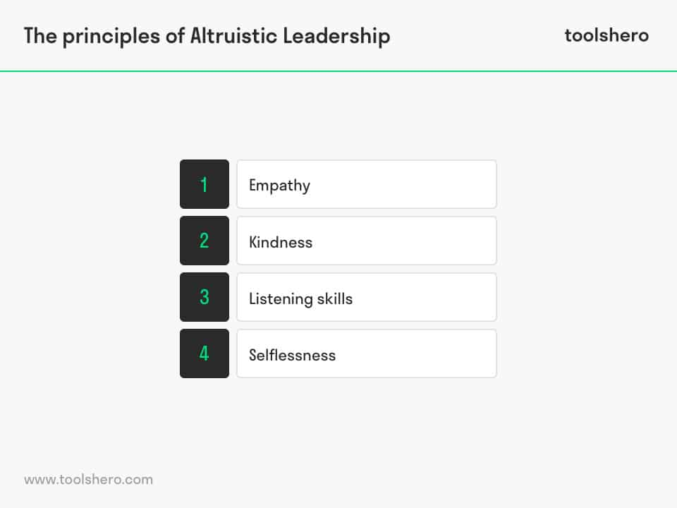 Altruistic leadership style principles - toolshero